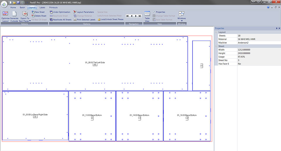 PackIT Software Layout