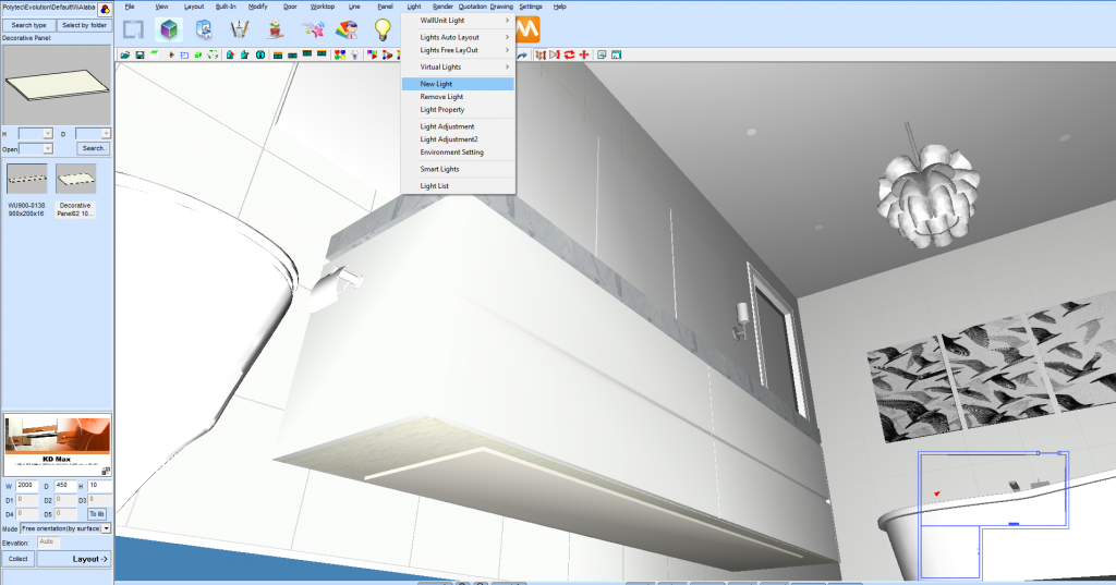 Creating A Led Light Source In Kd Max Kitchen Software Solutions Cabinets By Computer