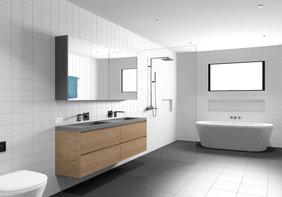 Bathroom Design using 3D Software