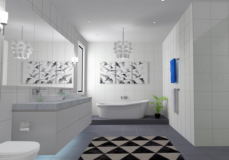 KD Max - Rendered Bathroom