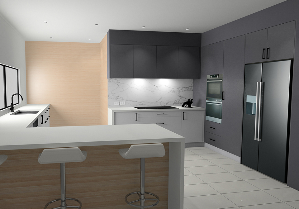 Kitchen Design using KD Max