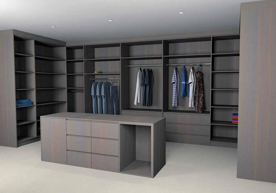 3D Design Walk In Wardrobe