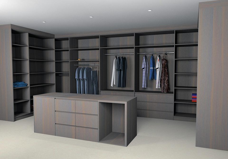 3D Design Walk In Wardrobe