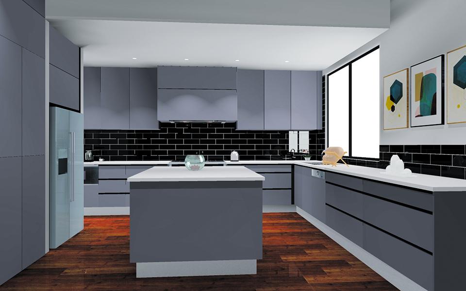 Kitchen Island 3D Design