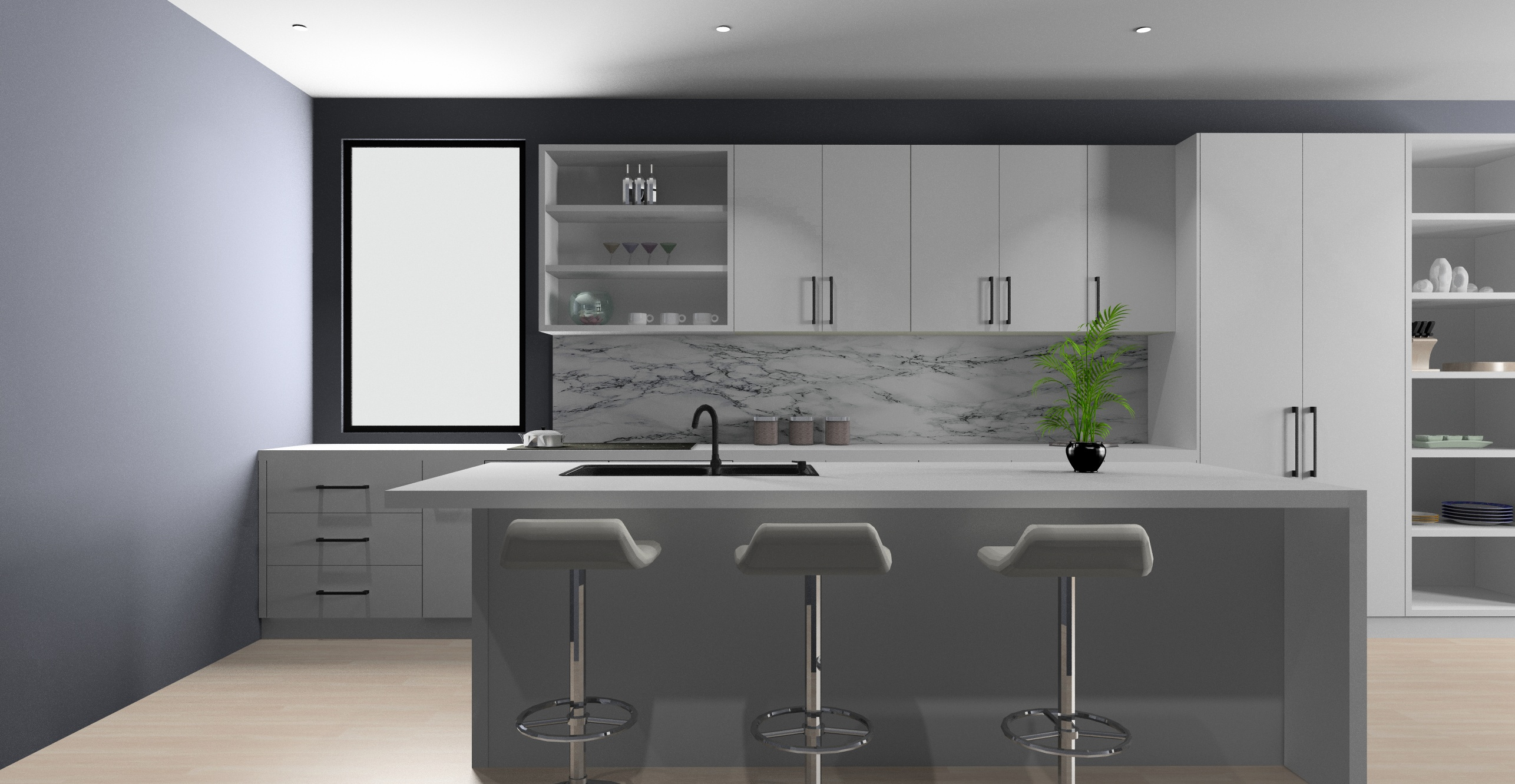 3D Design of a New Kitchen