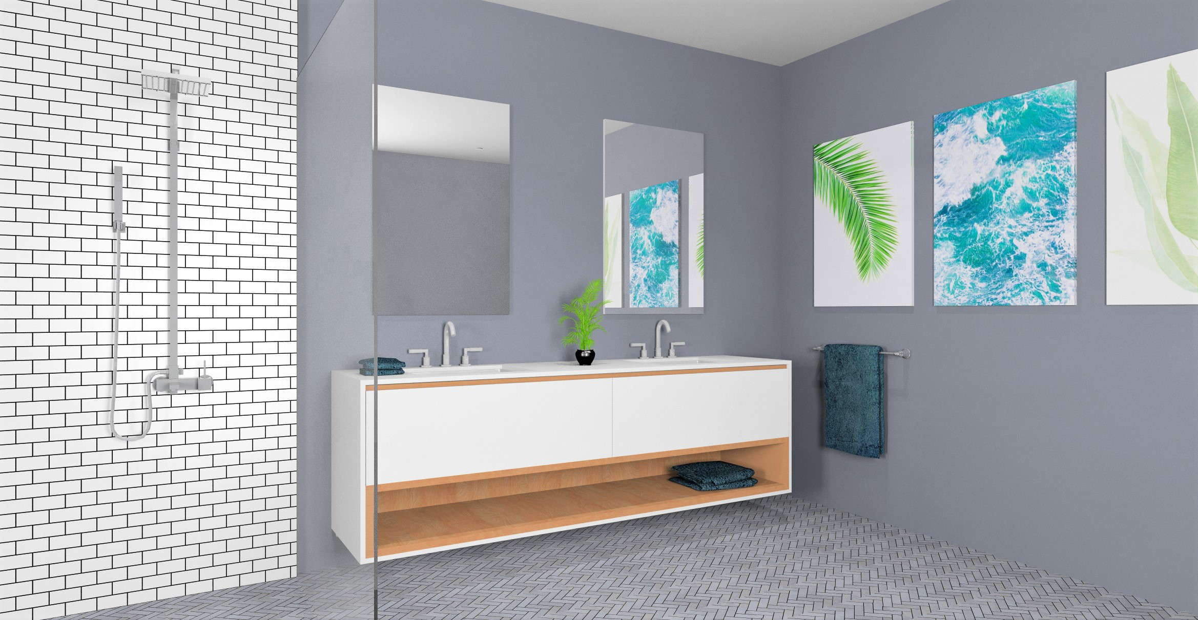 Bathroom Layout Render