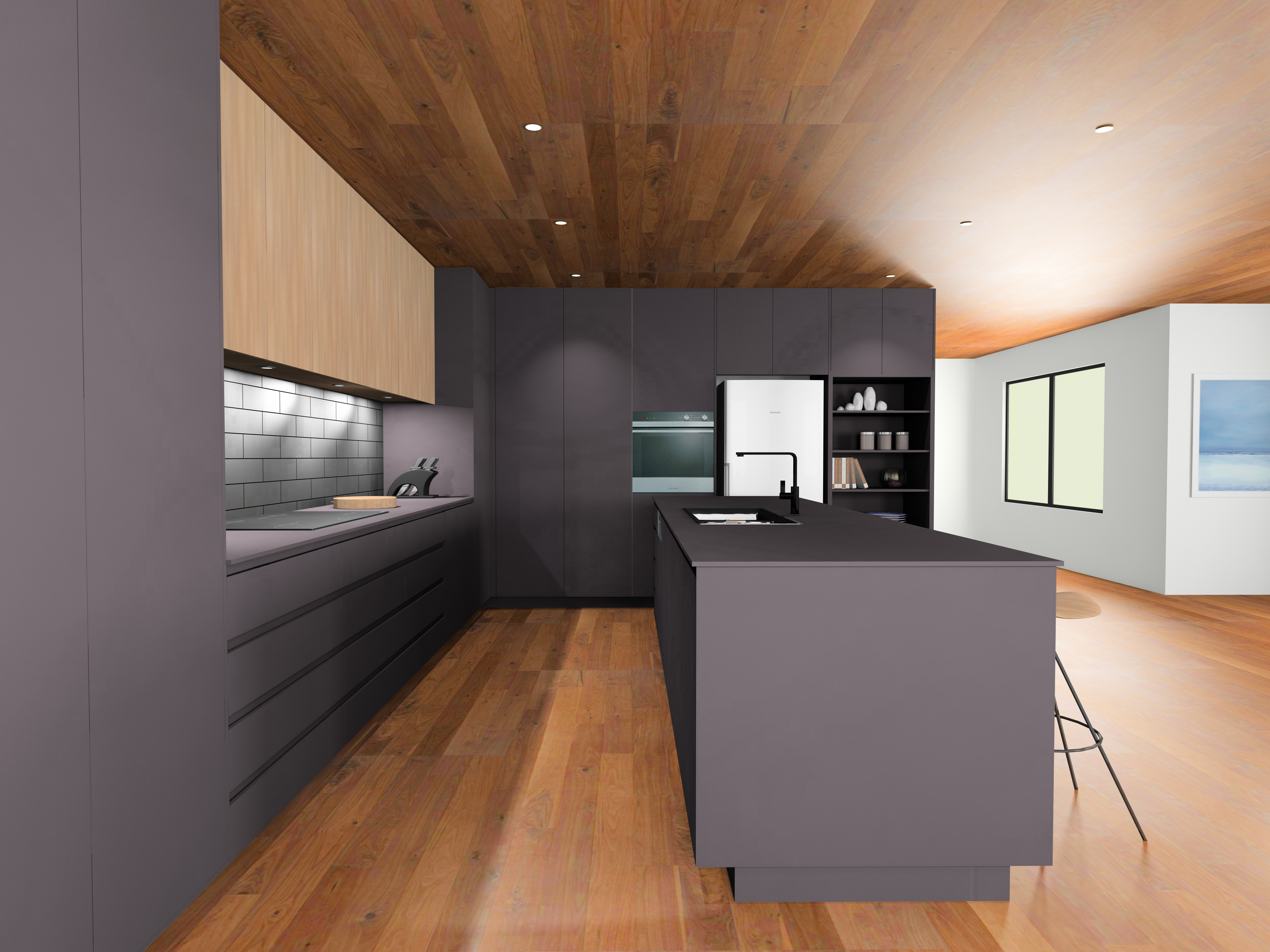 Wooden Style Kitchen Layout