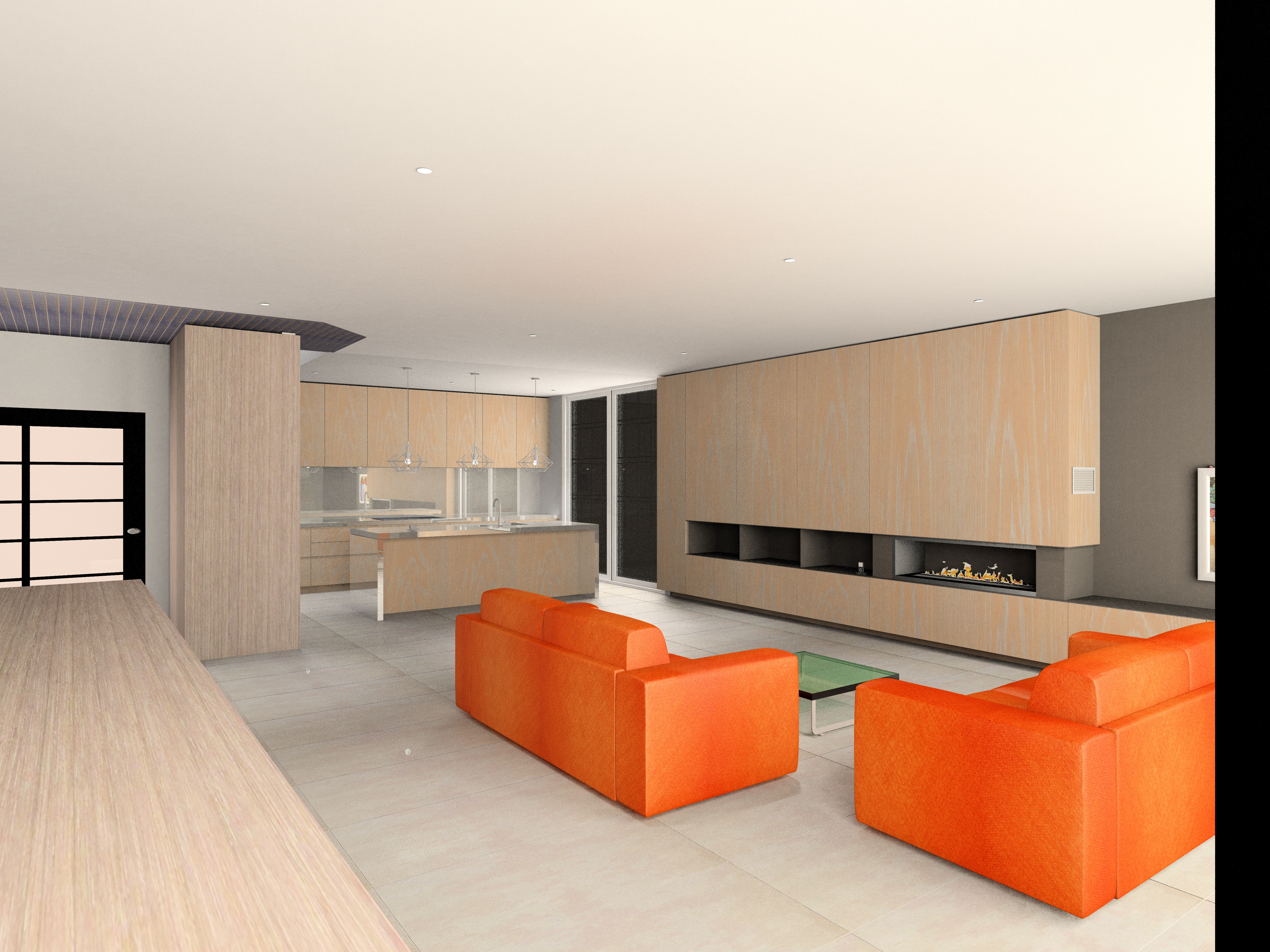 KD Max living and kitchen render