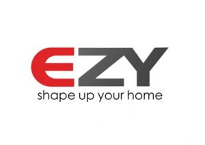 EZY red and gray logo