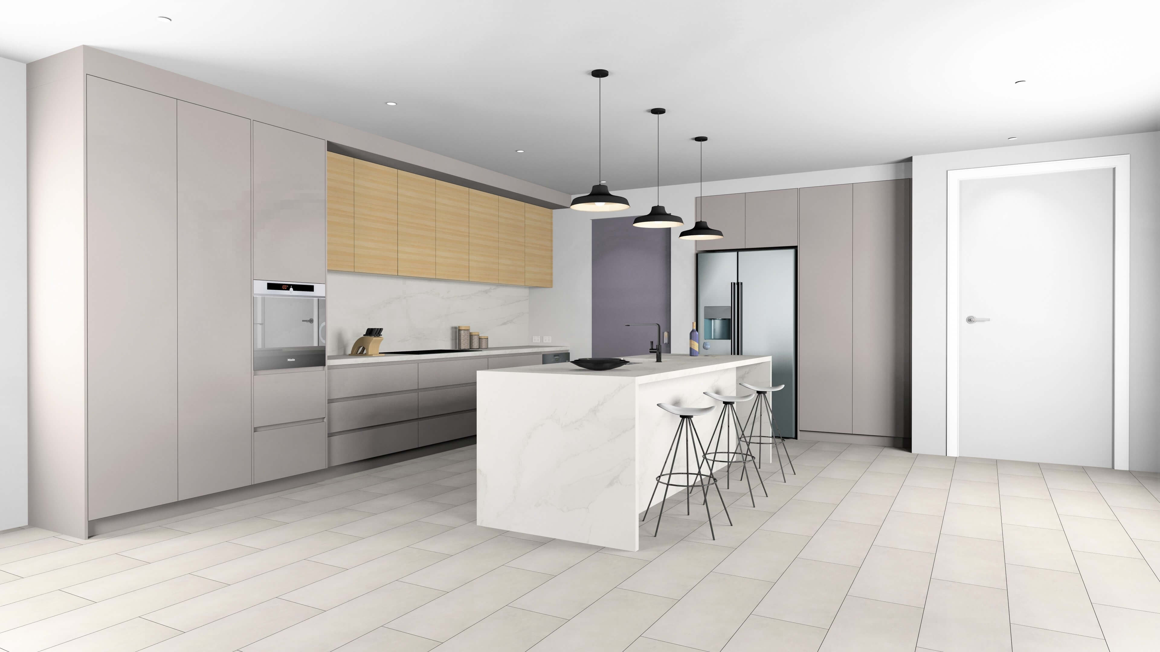 Rendered Kitchen using KD Max Software