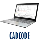 Laptop with CADCODE logo
