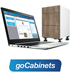 Laptop with goCabinets logo