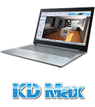 Laptop with KD Max logo