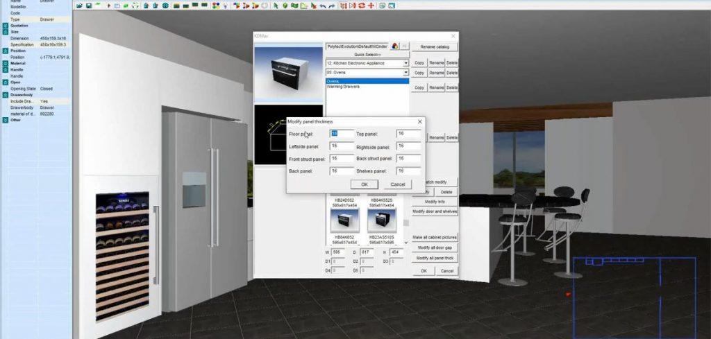 KD Max interface render of kitchen